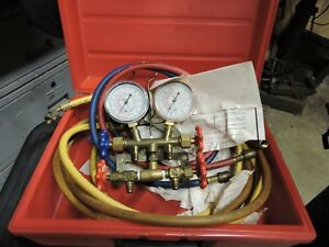 Manifold Guage For Ac And Refrigeration Systems 60 Hoses R410a