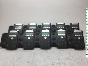 Lot Of 10 Polycom Soundpoint Ip335 Phones W Stands No Handsets Tested Reset