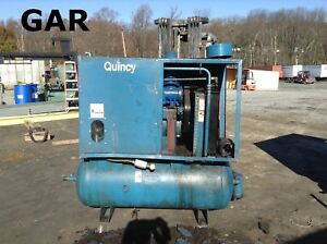 Quincy 30 Hp Rotary Screw Air Compressor W 200psi 180 Gallon Tank