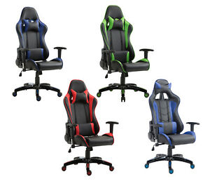 Computer Gaming Chair Office Ergonomic Executive Chair Swivel Recliner Desk Seat