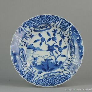 Large 1680 1700 Kangxi Period Kraak Revival Klapmuts Blue White Dish Rare Qing