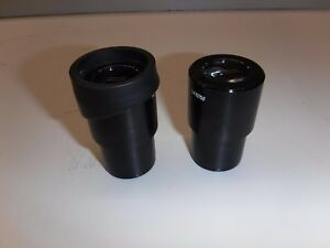 Pair Of Leica 13410750 10x 22 Microscope Eyepieces