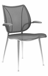 Liberty Side Chair By Humanscale Fixed Duron Arms Monofilament Stripe Mesh Te