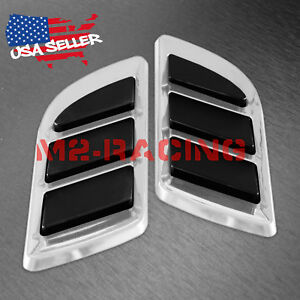 Universal Abs Chrome Fender Grill Body Side Vents Car Suv Sticker Vip Decoration Fits 2010 Toyota Corolla