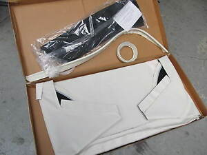 1968 75 Corvette White Convertible Soft Top Vinyl Top Pads Strap Kit Al Knoch