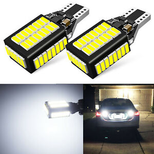 2x 921 High Power 50w Cree 10 Smd Led 6000k White Backup Reverse Light Bulbs Us