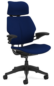 Humanscale Freedom F213 Navy Wave Fabric Advanced Duron Arms Office Desk Chair