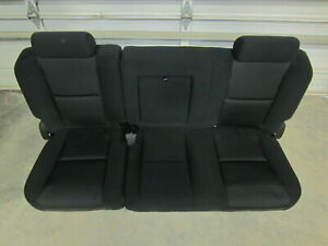 07 13 Chevy Silverado Gmc Sierra Crew Cab Rear Black Cloth Bench Seat