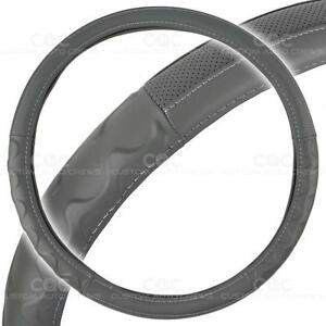 Motor Trend Big Rig Steering Wheel Cover For Truck 18 Gray Syn Leather