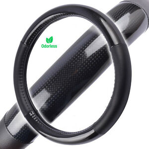 Carbon Fiber Tuning Sport Grip Steering Wheel Cover For Ford Car Truck Suv