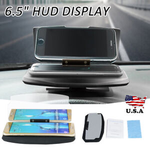 Car Vehicle Hud Head Up Display Navigation Gps Mobile Phone Mount Holder 6 5