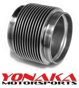 Yonaka 4 Id Slip Fit T304 Polished Stainless Steel Exhaust Bellow Flex Joint