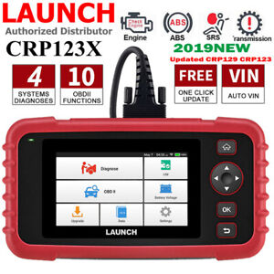 New Launch Crp123x Obd2 Car Scanner Automotive Diagnostic Tool Abs Srs Real time