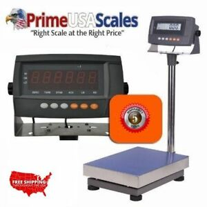 Industrial Portable Bench Scale 300 Lb X 02 Lb Plate Size 12 x16 Rechargeable