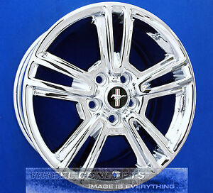 Ford Mustang 17 Inch 10 Spoke Chrome Wheels Exchange