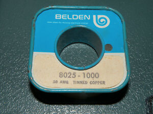 Belden Bus Bar Wire 30awg 1000 Feet 8025 Solid Tinned Copper