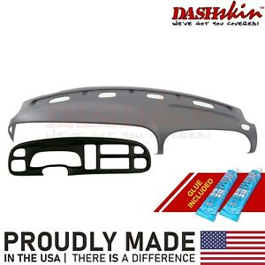Dash Cover Cap Skin Mist Gray Medium Grey Bezel Cover 99 00 01 Dodge Ram