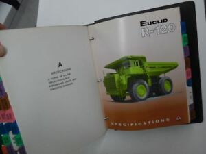 1970s Euclid Hauler Off Road Truck Dealer Sales Product Info Catalog Binder Huge
