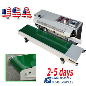 us top Automatic Horizontal Continuous Plastic Bag Band Sealing Sealer Machine