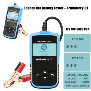 Topdon Car Battery Tester Analyzer 100 2000 Cca Artibattery101 For Flooded Agm