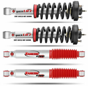 Rancho Set Of Front Quicklift Struts Rs9000xl Rear Shocks For Nissan Armada