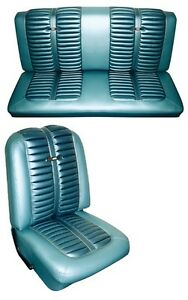 1963 Ford Fairlane Sport Coupe Seat Cover Set Front Rear New Authentic Oem Repro