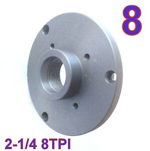 1 Pc Back Plate For 8 Lathe Chuck W threaded 2 1 4 8tpi Sct 888