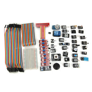 Geekcreit 37 Sensor Module Kit With T Type Gpio Jumper Cable Breadboard For Rasp