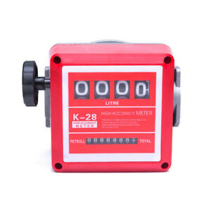 4 Digital Diesel Gasoline Fuel Petrol Oil Flow Meter Fm 120