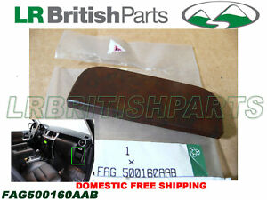 Genuine Land Rover Cup Holder Cover Plate Walnut Lr3 Oem New Fag500160aab