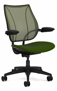 Liberty Chair By Humanscale Gel Seat Adjustable Duron Arms Black Frame moss