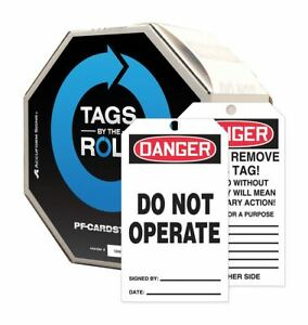 Accuform 10 Mil Perforated Cardstock Do Not Operate Danger Tag 6 1 4 Height