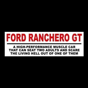 Funny Ford Ranchero Gt Muscle Car Sticker Hot Rod 1969 1970 1971 1972 1974