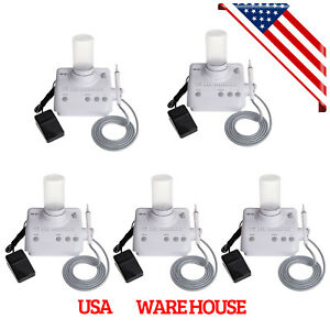 5 X Dental Ultrasonic Scaler For Ems Woodpecker Tips Auto water Supply 3tq
