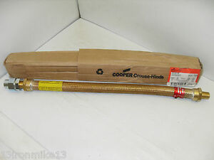 new Cooper Crouse hinds Eclk118 Explosion Proof Flexible Conduit 1 2 X 18