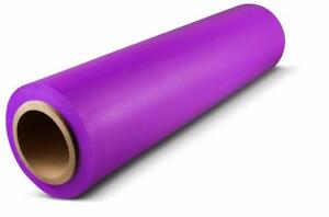 Hand Stretch Film 18 X 1500 Purple Shrink Plastic Wrap For Moving 80 Ga 28 Rls