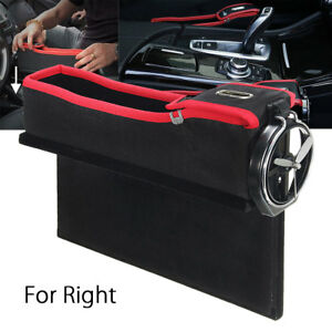 Car Seat Gap Catcher Collector Cup Holder Pocket Storage Box Organizer For Right