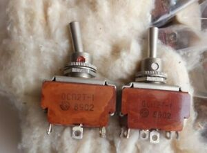 Spdt On off on Toggle Switch 3a 250v Ac 6 pin Military Ussr 1989 Lot 10pcs