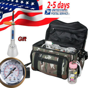 Us Dental Turbine Unit Air Compressor Portable Carry Bag Gift For Dentist Clinic