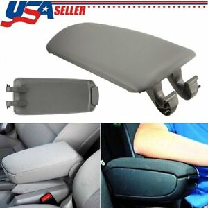 Grey Armrest Center Console Arm Rest Lid Cover For Audi A4 B6 B7 A4l 2002 2007
