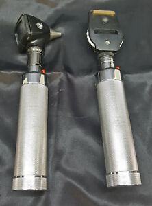Welch Allyn 3 5v Diagnostic Set 25020a Otoscope 11720 Opthalmoscope