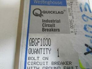 Westinghouse Qbgf1030 Circuit Breaker 30amp new Out Of Box
