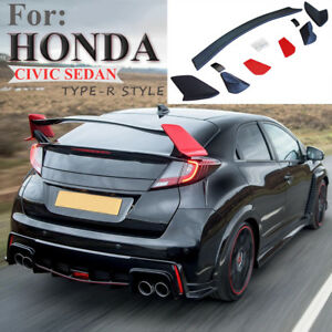 For 10th Honda Civic 2016 2018 4dr Sedan Jdm Ctr Type r Style Trunk Spoiler Wing