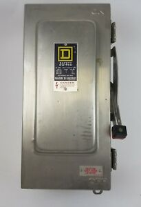 Square D Safety Switch Hu362ds 60a 600vac 600vdc With Stainless Steel Enclosure