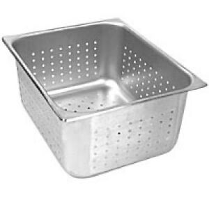 Perforated Steam Pans Stainless Steel Full Size 6 Deep Nsf Approved