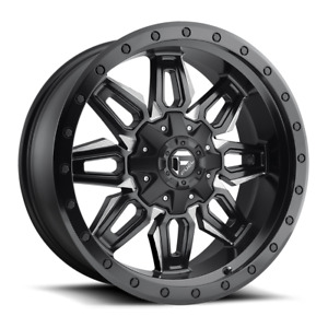 Fuel D597 Nuetron 20x9 6x135 6x139 7 Black Milled Edge Wheel Rim
