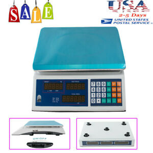 Sale Digital Scale Price Computing Deli Food Fruit Produce Counting 30kg 66 Lbs