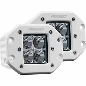 Rigid Industries 612113 D Series Pro Flood Light Flush Mount 4 White Led Pair