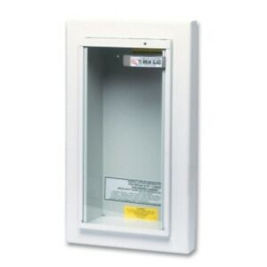 Heavy Gauge Potter Roemer Semi Recessed Fire Extinguisher Cabinet Tempered Glass