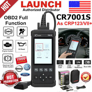 Launch X431 Creader Cr7001s Abs Epb Oil Engine Auto Obd2 Scanner Car Code Reader